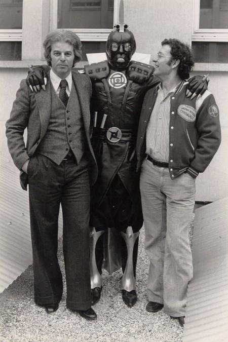 Jodorowsky y Moebius junto al personaje  Solider